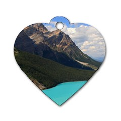 Banff National Park 3 Dog Tag Heart (two Sides) by trendistuff
