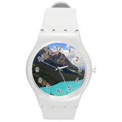 Banff National Park 3 Round Plastic Sport Watch (m) by trendistuff
