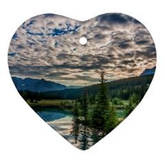 Banff National Park 2 Heart Ornament (2 Sides) by trendistuff