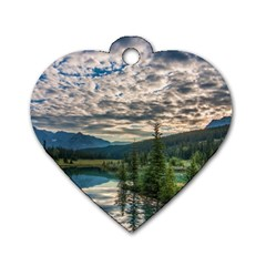Banff National Park 2 Dog Tag Heart (two Sides) by trendistuff