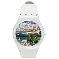Banff National Park 2 Round Plastic Sport Watch (m) by trendistuff