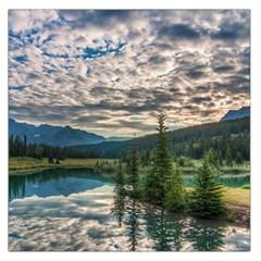Banff National Park 2 Large Satin Scarf (square) by trendistuff