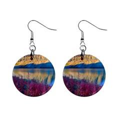 Banff National Park 1 Mini Button Earrings by trendistuff