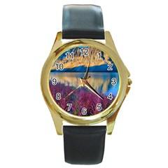 Banff National Park 1 Round Gold Metal Watches by trendistuff