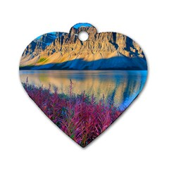 Banff National Park 1 Dog Tag Heart (two Sides) by trendistuff