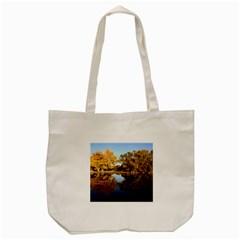 Autumn Lake Tote Bag (cream)  by trendistuff