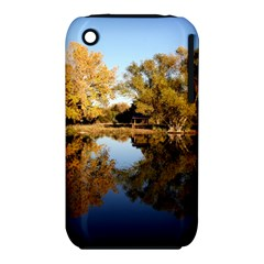Autumn Lake Apple Iphone 3g/3gs Hardshell Case (pc+silicone) by trendistuff