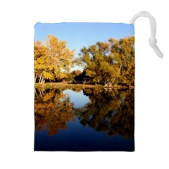 Autumn Lake Drawstring Pouches (extra Large)