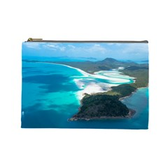 Whitehaven Beach 2 Cosmetic Bag (large)  by trendistuff