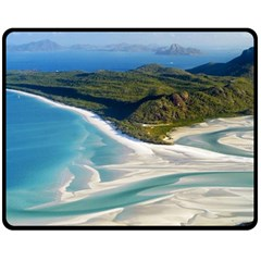 WHITEHAVEN BEACH 1 Double Sided Fleece Blanket (Medium)  by trendistuff
