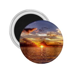 Tahitian Sunset 2 25  Magnets by trendistuff