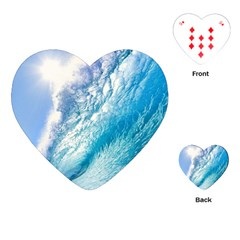 Ocean Wave 1 Playing Cards (heart)  by trendistuff