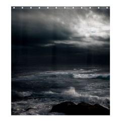 OCEAN STORM Shower Curtain 66  x 72  (Large)  by trendistuff