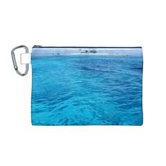 Ocean Island Canvas Cosmetic Bag (m) by trendistuff