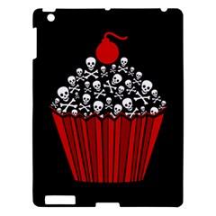 Skull Cupcake Apple Ipad 3/4 Hardshell Case by waywardmuse