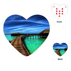 Maldives 2 Playing Cards (heart)  by trendistuff