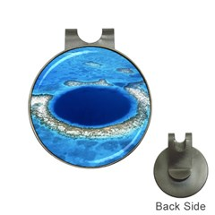 Great Blue Hole 2 Hat Clips With Golf Markers by trendistuff
