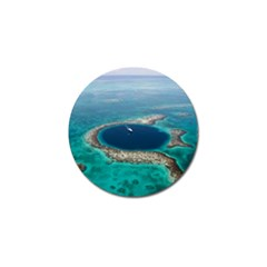 Great Blue Hole 1 Golf Ball Marker by trendistuff
