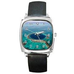 Great Blue Hole 1 Square Metal Watches by trendistuff