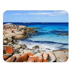 Bay Of Fires Double Sided Flano Blanket (large)  by trendistuff