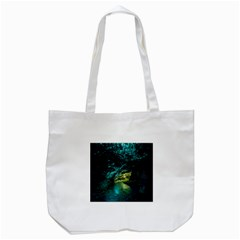 Waitomo Glowworm Tote Bag (white)  by trendistuff