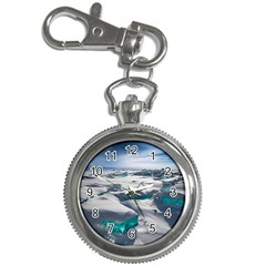 Turquoise Ice Key Chain Watches by trendistuff