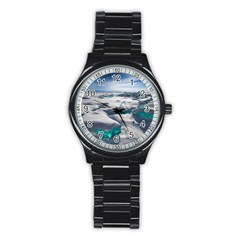 TURQUOISE ICE Stainless Steel Round Watches by trendistuff