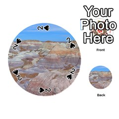 Painted Desert Playing Cards 54 (round)  by trendistuff