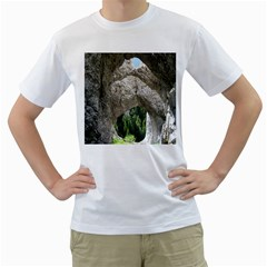Limestone Formations Men s T Shirt (white) (two Sided) by trendistuff