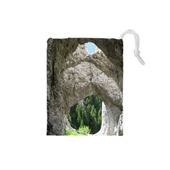 Limestone Formations Drawstring Pouches (small)  by trendistuff