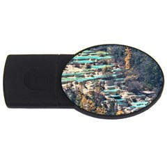 Huanglong Pools Usb Flash Drive Oval (2 Gb)  by trendistuff
