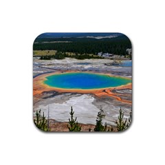 Grand Prismatic Rubber Square Coaster (4 Pack)  by trendistuff