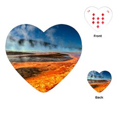 Fire River Playing Cards (heart)  by trendistuff
