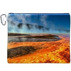 Fire River Canvas Cosmetic Bag (xxxl)  by trendistuff
