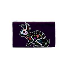 Dia de los Conejos Cosmetic Bag (Small) by Ellador