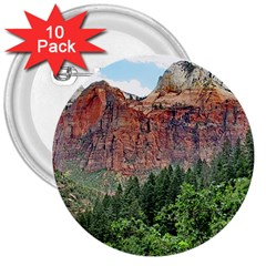 Upper Emerald Trail 3  Buttons (10 Pack)  by trendistuff