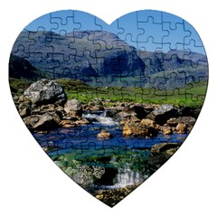 The Clisham Jigsaw Puzzle (heart) by trendistuff