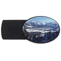 SNOWY MOUNTAINS USB Flash Drive Oval (1 GB)  by trendistuff