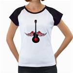 Flying Heart Guitar Women s Cap Sleeve T