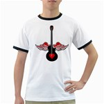 Flying Heart Guitar Ringer T