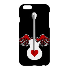 Flying Heart Guitar Apple Iphone 6 Plus/6s Plus Hardshell Case by waywardmuse