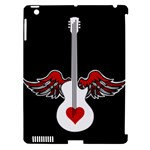 Flying Heart Guitar Apple iPad 3/4 Hardshell Case (Compatible with Smart Cover)