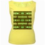Modern Pattern Factory 01 Women s Yellow Tank Tops