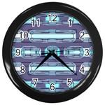 Modern Pattern Factory 01 Wall Clocks (Black)