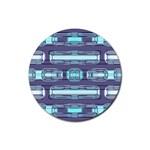 Modern Pattern Factory 01 Rubber Coaster (Round)