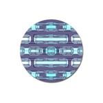 Modern Pattern Factory 01 Magnet 3  (Round)