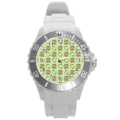 Modern Pattern Factory 04 Round Plastic Sport Watch (l) by MoreColorsinLife