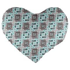 Modern Pattern Factory 04b Large 19  Premium Heart Shape Cushions by MoreColorsinLife