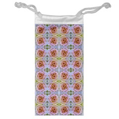 Pink Light Blue Pastel Flowers Jewelry Bags by Costasonlineshop