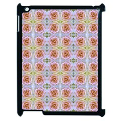 Pink Light Blue Pastel Flowers Apple Ipad 2 Case (black) by Costasonlineshop